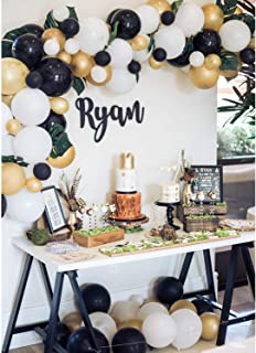 TOPLLON Gold Balloons Black Balloons 12 Inch 73 PCS, Matte Latex Balloons Garland Arch Kits for Baby ShowerBachelorette Party Wedding Party Decoration Birthday Party