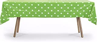 12 Packs of Polka Dot Table Cover, Plastic Rectangular Pool Patio Party Disposal Table Cover (Lime Green)