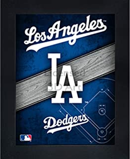 Los Angeles Dodgers 3D Poster Wall Art Decor Framed Print | 14.5x18.5 | Lenticular Posters & Pictures | Memorabilia Gifts for Guys & Girls Bedroom | MLB Baseball Sports Team Fan Poster for Man Cave
