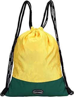 Sackpack Drawstring Backpack Bags with Waterproof Durable Lightweight Color Australia National Soccer Team in The 2018 FIFA World Cup Russia by PASSIONGEN