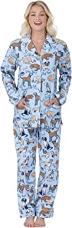 PajamaGram Flannel Pajamas Women Soft - Women's Flannel Pajamas, Pet Lover