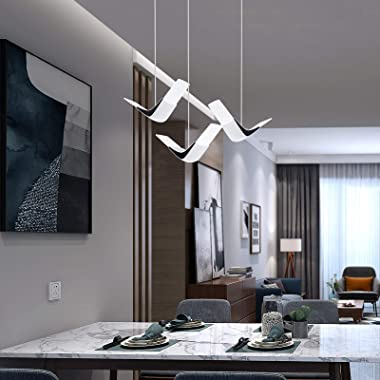 Modern Island Pendant Lighting, 8W LED Acrylic Mini Hanging Light White for Kitchen Island Dining Room Bathroom, Cold White 6