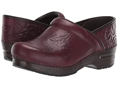 Dansko Embossed Pro (Wine Burnished Calf) Women