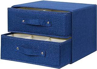 Boîte De Rangement En Tissu Bacs De Rangement Avec Poignée Organisateur De Tiroir Avec Couvercle Bacs De Rangement Pliants...