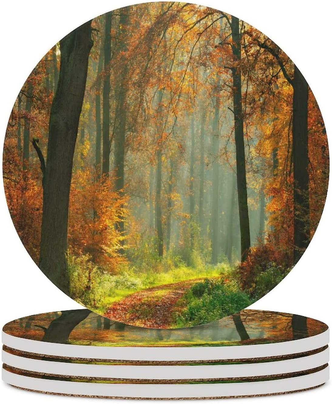 Autumn Footpath Sales for sale through The Foggy Illuminated by Forest Sunlight Popular products