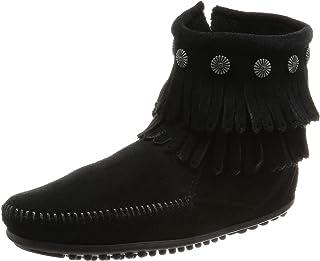 [ミネトンカ] ブーツ DOUBLE FRINGE SIDE ZIP BOOT(ダブルフリンジサイドジップブーツ)