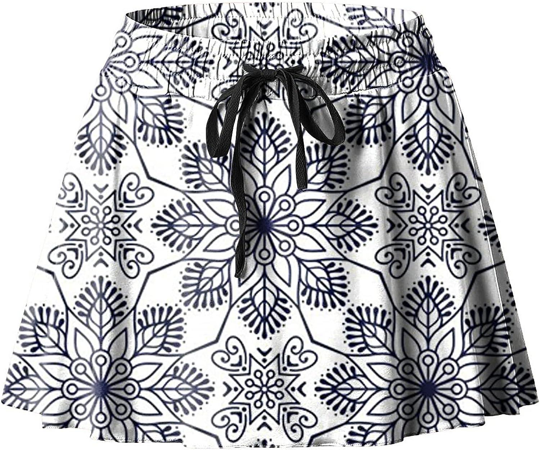 LINKIOM Skirt Women's Running Fitness Yoga Skirt Lightweight Fake Two-Piece Skorts