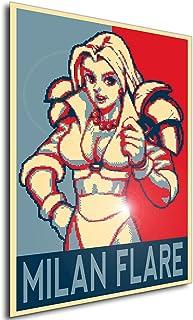 Instabuy Poster - Propaganda - Pixel Art - Golden Axe The Duel - Milan Flare A4 30x21