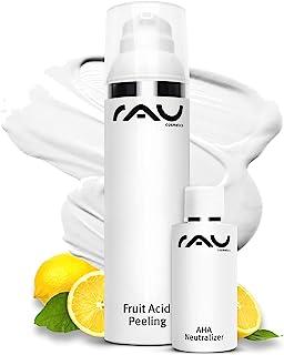 RAU Cosmetics AHA  2% BHA Fruchtsäurepeeling Fruit Acid Peeling 100 ml - Peeling gegen Mitesser, Unreine, Reife, Trockene Haut & bei Neurodermitis - Mandelsäure, Salicylsäure & Lactobionsäure