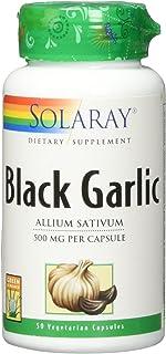 Solaray Fermented Black Garlic Bulb, Veg Cap (Btl-Plastic) 500mg | 50ct