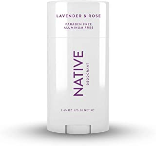 Native Deodorant - Natural Deodorant for Women and Men - Vegan, Gluten Free, Cruelty Free, Contains Probiotics - Aluminum Free & Paraben Free, Naturally Derived Ingredients - Lavender & Rose