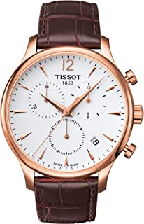 Tissot Mens Quartz Watch, Analog Display and Leather Strap T063.617.36.037.00