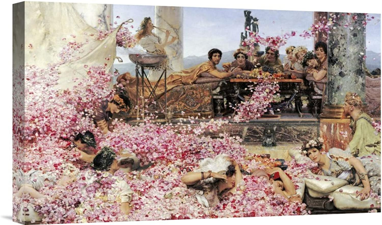 Global Gallery Budget GCS-264555-22-142 Sir Lawrence Alma-Tadema The pinks of Heliogabalus Gallery Wrap Giclee on Canvas Print Wall Art