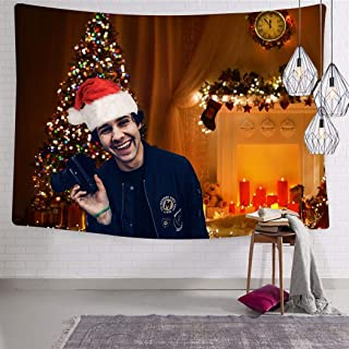 SPORSPOR David Merry Christmas Dobrik Tapestry Wall Hanging Wall Decoration Tapestry 3D Printing Bed Cover Tablecloth Curtain Light Design