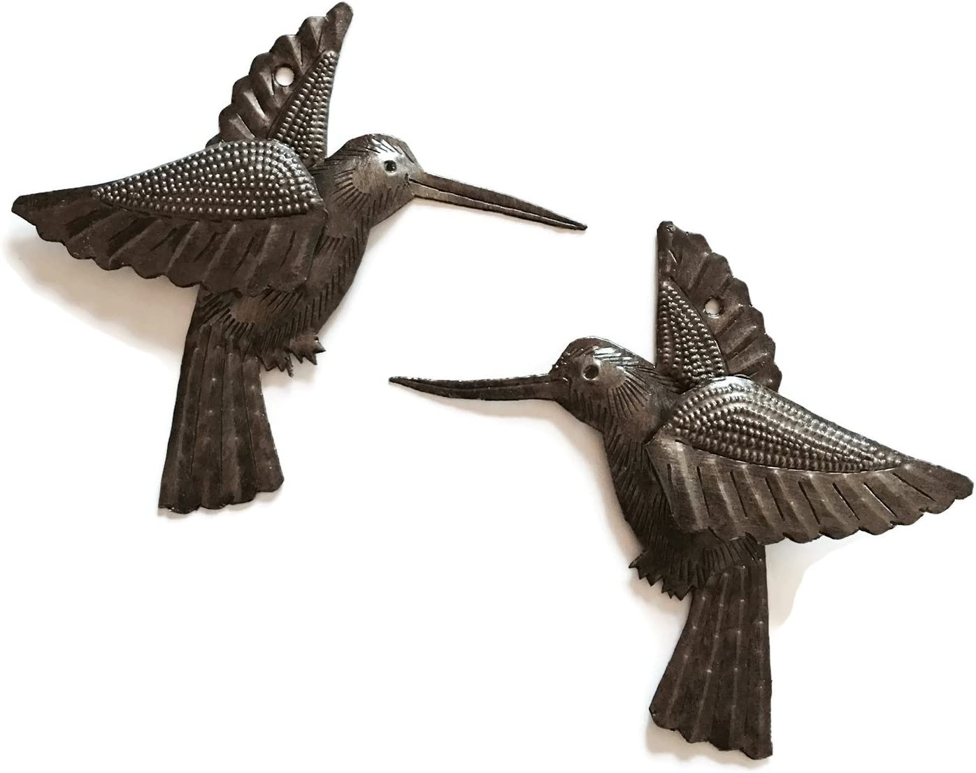Hummingbirds, Set of 2, Nature Inspired Small Wall Hanging Ornam