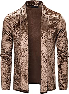 Cardigan Men Fashion Plus Velvet Pure Color Giacca da Uomo d'Affari Semplice e Confortevole Autunno Inverno New Cardigan d...