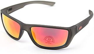 KTM - Gafas de ciclismo MOD.Factory de policarbonato negro con lentes naranjas espejadas