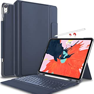 IVSO Keyboard Case for iPad Pro 12.9 2018-3rd Gen One-Piece Wireless Keyboard [Compatible Apple Pencil Charging] Auto Wake...
