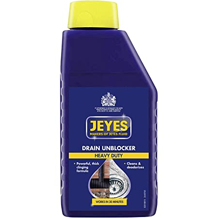 Jeyes Drain Unblocker, Powerful Outdoor Cleaning Fluid, Cleans and Deodorises, 1 Litre