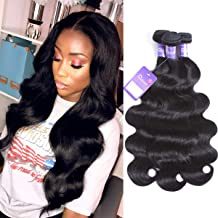 Faddishair Brazilian Virgin Hair Body Wave 3 Bundles 10 12 14 Inch Human Hair Bundles 100% Unprocessed Human Hair Weft 7A Weave Hair Natural Color Hair Bundles 300g