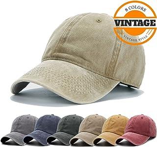 Unisex Vintage Washed Distressed Baseball-Cap Twill Adjustable Dad-Hat 8ff43238b794
