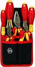 Wiha 32985 7 Piece Insulated Industrial Pliers/Cutters/Drivers Belt Set