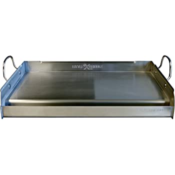 Little Griddle GQ230 100% Stainless Steel Professional Quality Griddle with Cross Bracing