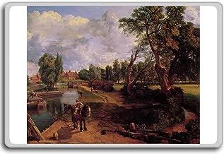 John Constable -Scene On A Navigable River (Flatford Mill) (1816-17) classic art fridge magnet