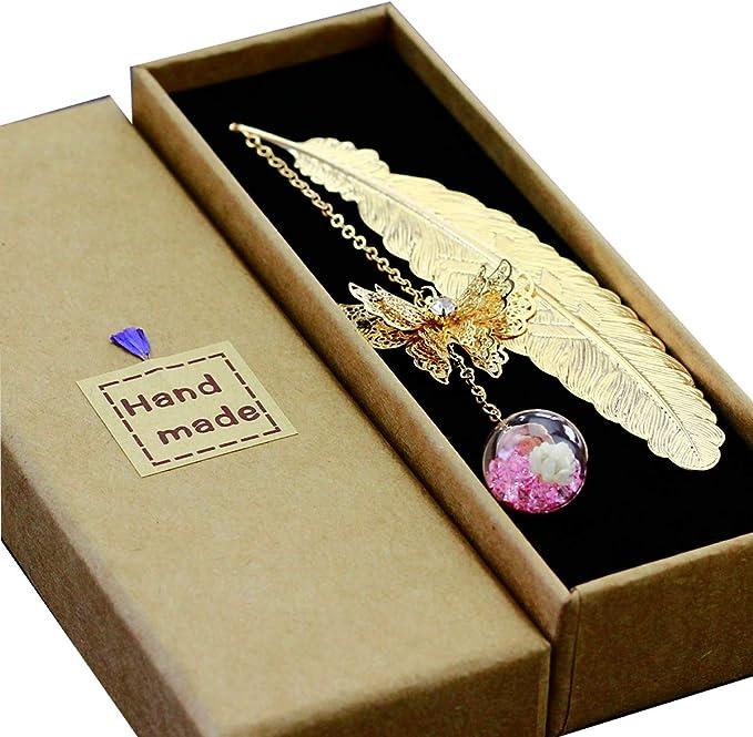 8060 opinioni per Toirxarn Segnalibro in piuma di metallo, con farfalla 3D e perle di vetro