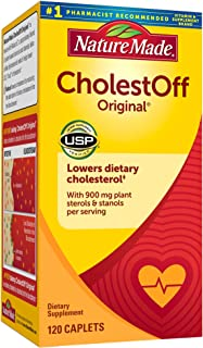 Nature Made CholestOff Original Caplets, 120 Count for Heart Health