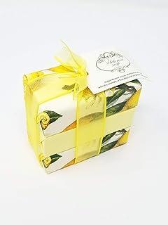 Alchimia Lemon Vegetable set of 3 bar soaps made in Italy - 3x100 gram