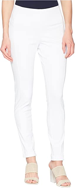 "Stretch Twill 28"" Pull-On Flatten Leggings with Cuff"