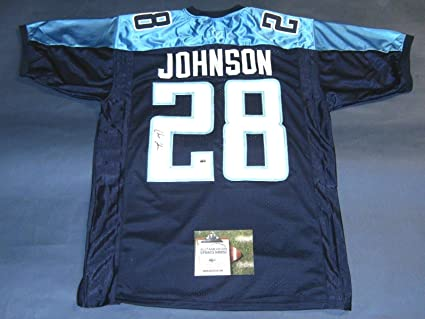 CHRIS JOHNSON AUTOGRAPHED TENNESSEE TITANS JERSEY AASH at Amazon's ...