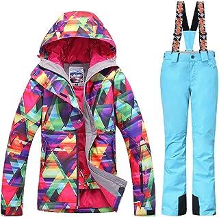 GS SNOWING New Women Winter Waterproof Windproof Insulatd Snowboarding Jackets Ski Snow Coats and Pants