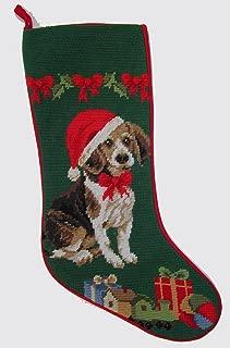 Beagle Needlepoint Christmas Stocking
