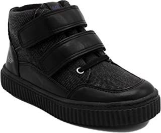 Naturino E Kids High Top Sneaker, Boys Double Velcro Strap Hi-Top Boot - Adamo