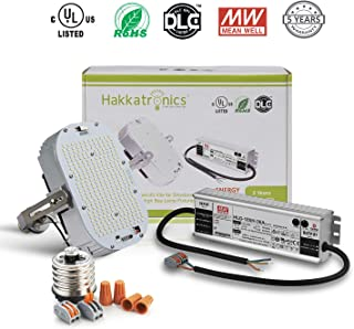 Hakkatronics 185W LED Retrofit Kit with Power Supply (UL/DLC), Replace 800W MH/HPS/HID, LED Retrofit Kit for Shoebox Fixtures Wall Pack [ 5500K Crystal Bright White Lighting/27750 LM/10 Yrs Warranty]