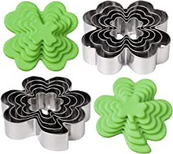 BakingWorld Shamrock and Four Leaf Clover Cookie Cutter Set - Clover Shapes Stainless Steel Cookie Cutters Mold for St. Pa...