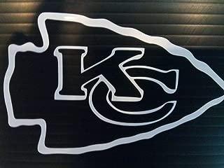 Set of 2 Kansas City Sticker Car Truck Auto Decals Bumper Laptop Window Vinyl Helmet Hard (Silver, 6