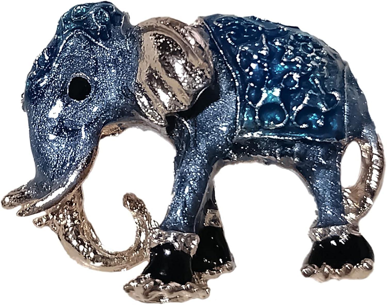 Handmade Brooches Buttons & Pins,Retro Women Enamel Elephant Animal Shape Brooch Pin Cardigan Shirt Decoration