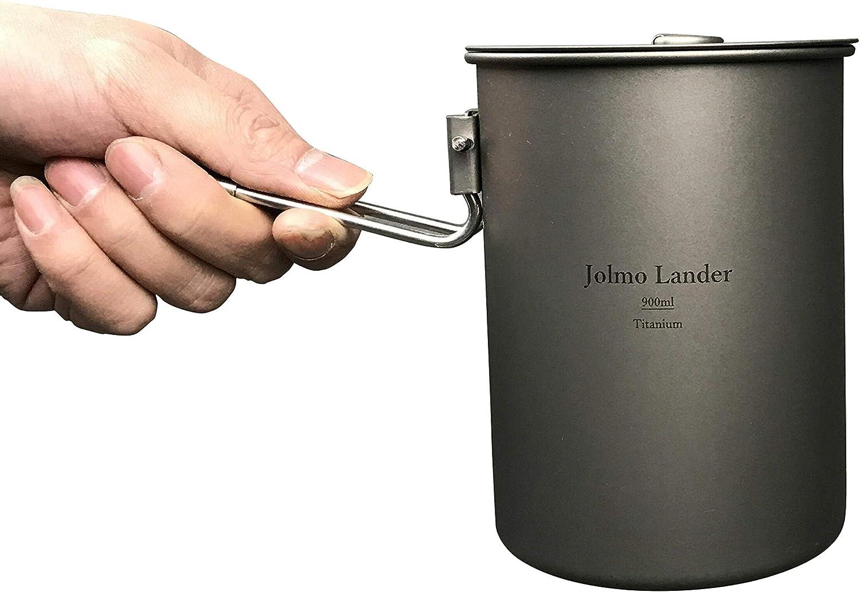 Jolmo Lander Bargain Titanium Pot with Ultralight Handle Adventu Locking Fixed price for sale