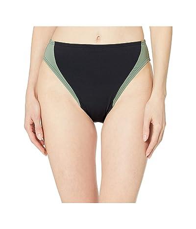 Vince Camuto Sunblock Color Block High Leg Bottoms (Black) Women