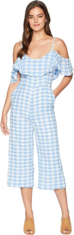 Kande Cotton Gingham Jumpsuit