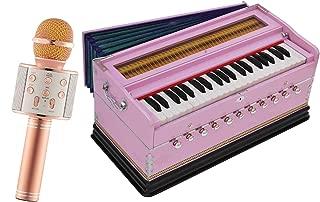 Makan Musicals Bass Reed & Male Reed 11 Stops 6 Main & 5 Drone, 3½ Octaves, Coupler, Tuned 440 Hz, Bhajan, Kirtan, Shruti, Mantra Hand Pumped Harmonium