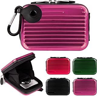 Metal Shell Compact Digital Camera Case Bag for Panasonic Lumix DMC ZS50 ZS70 ZS50S ZS100 TZ80 TZ70 LX7 SDC 23 and More Point and Shoot Digital Camera Case Purple