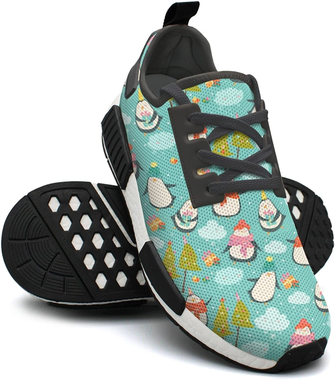 Cute Unicorn Penguins Green Tennis Gym Womans Jogging shoes NMD