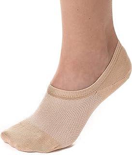 Bam&bü Women's Premium Bamboo No Show Casual Socks - 4 pair pack - Non-Slip