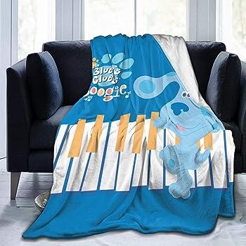 Meet Gentle Childrens Blues Clues Dog Flannel Fleece Throw Blanket Lightweight Cozy Plush Microfiber Bedspreads Novelty Bedding Sofa Soft Air Conditioning Quilt (M 60X50)