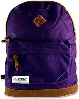 Premier Stationery Explore Casual Daypack, 44 cm, 25 L, Purple & Tan