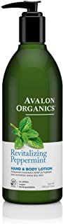 Avalon Organics Peppermint Hand And Body Lotion, 12-Ounce Bottle (Pack of 2)